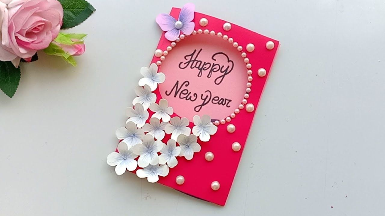 Beautiful Handmade Happy New Year 4 Card Idea / DIY Greeting