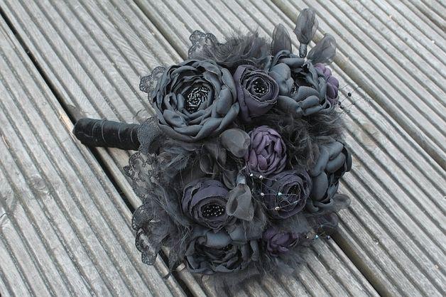 Accessoires Gothic Brautstrauss Nach Kundenwunsch Ein