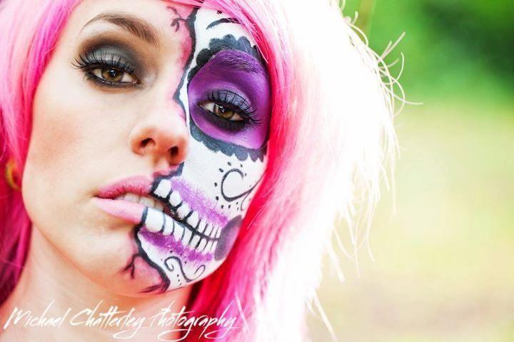 Sugar Skull Makeup Tips Half Sugar Skull Makeup And Halloween Makeup Sugar Skull Sugar Skull Makeup Skull Makeup
