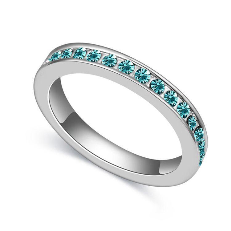 Alliances of Marriage Women Rings Men Jewelry Austrian Crystal ...