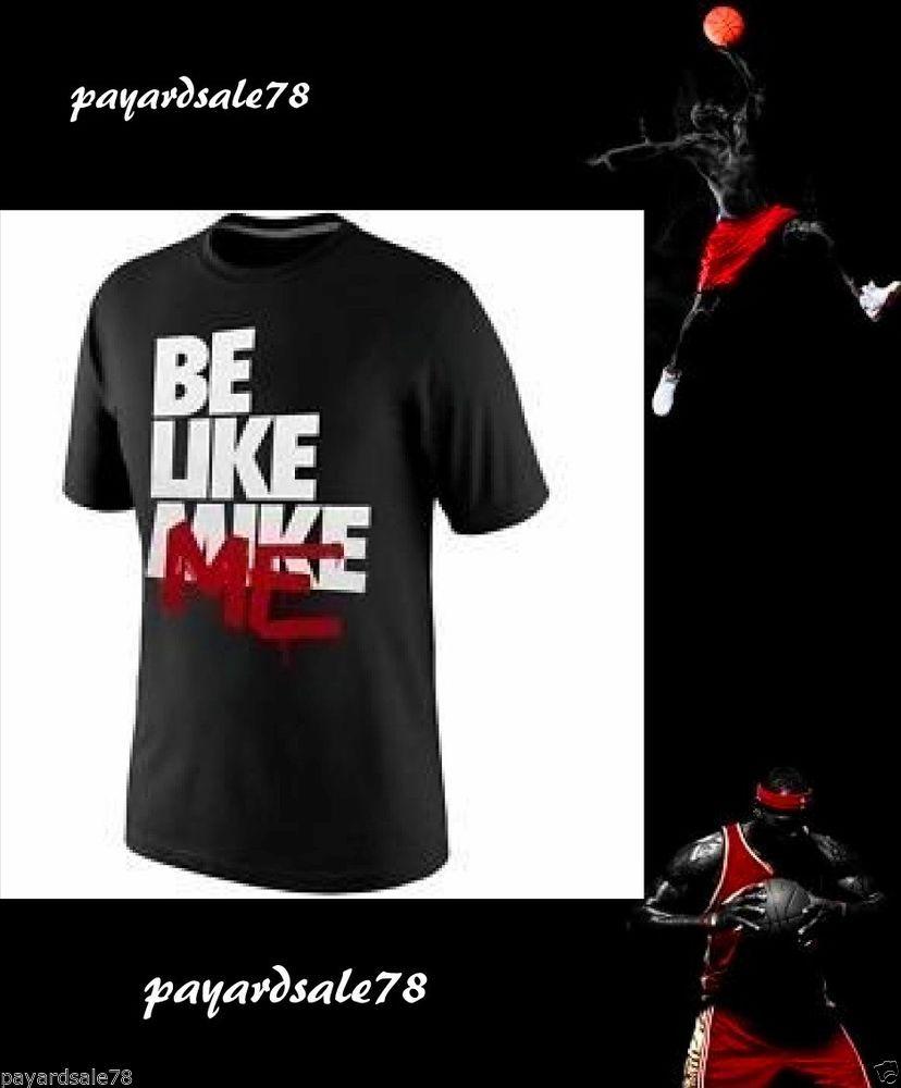 d25dab28ac7820 MEN S SIZE 3XL MICHAEL JORDAN T-SHIRT XXXL BE LIKE MIKE ME BLACK WHITE RED  NEW  NIKE  GraphicTee