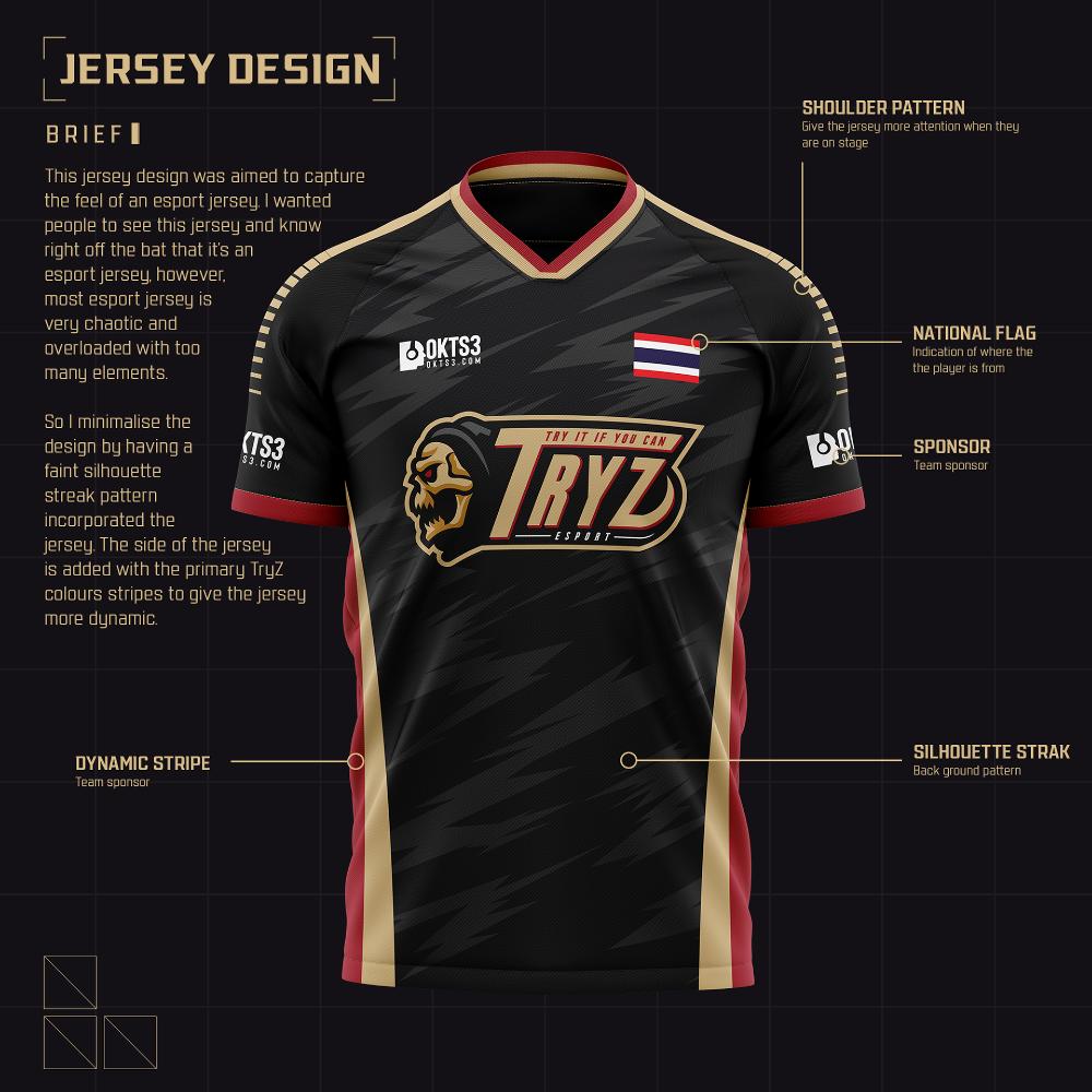 Download Tryz Esport Brand Identity On Behance Sport Shirt Design Rugby Jersey Design Jersey Design