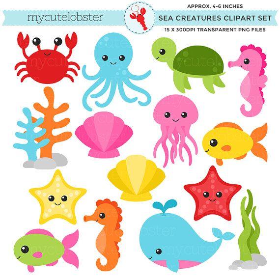 45+ Ocean Sea Animal Clipart