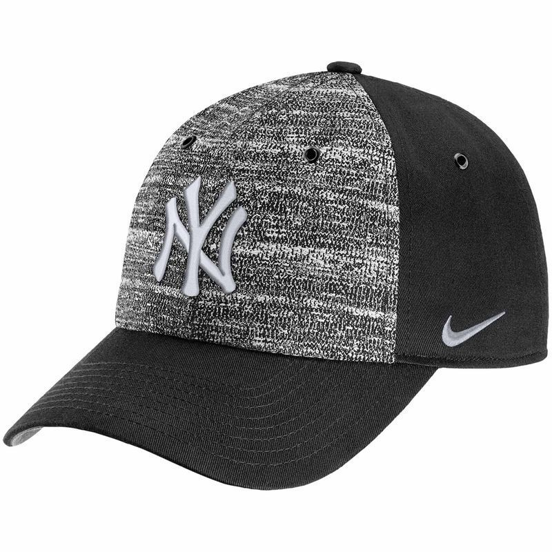 cfd987f8bfc New York Yankees Nike New Day H86 Adjustable Hat - Heathered Gray Black