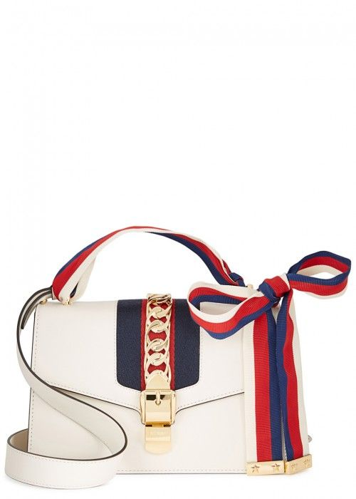 635425588e4 GUCCI SYLVIE SMALL OFF WHITE LEATHER TOTE.  gucci  bags  shoulder bags   hand bags  suede  tote  lining