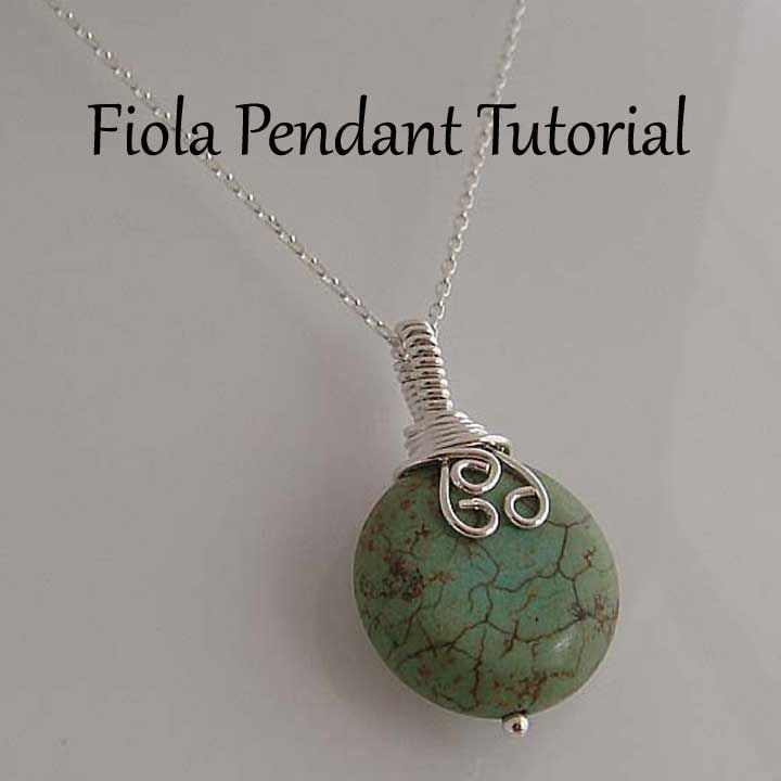 jewelry tutorials | Tutorial Fiola wire wrapped pendant - Instant download