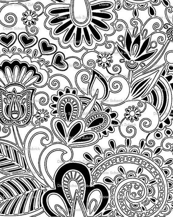 Thermofax Silk Screen Textile Flower Design by ...
