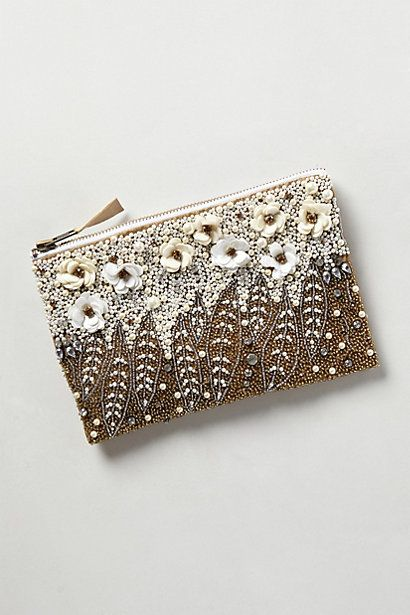 Floral Pearl Pouch #anthropologie