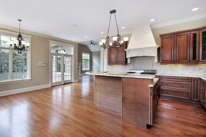 Traditional Medium Wood-Cherry Kitchen Cabinets - from ...