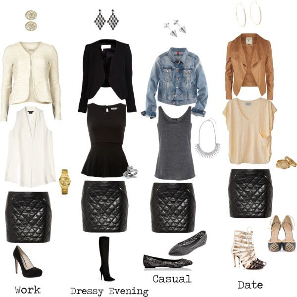 Leather Skirt Outfit Ideas (KB)