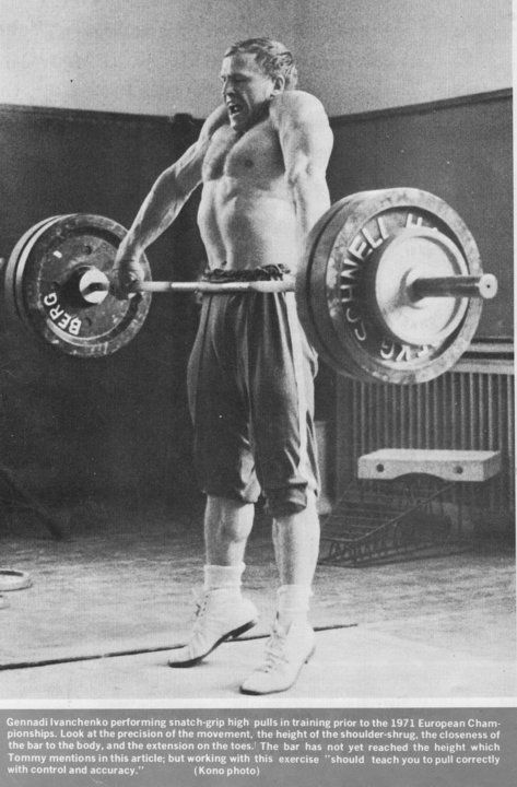 Gennady Ivanchenko Olympic Weightlifting Athlete Workout Strongman Training