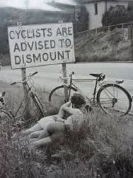 Image result for kissing george bicycle