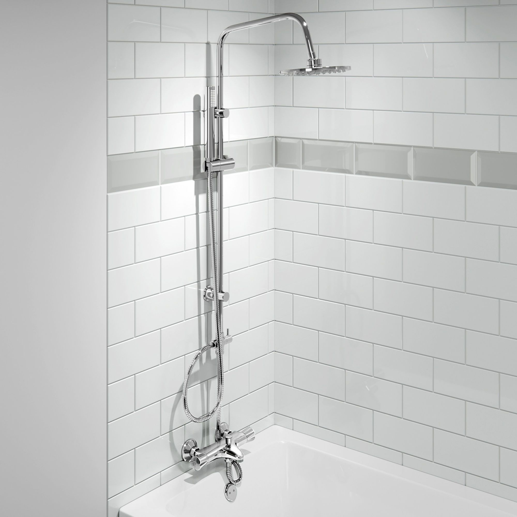 200Mm Round Shower Kit With Thermostatic Wall Mounted Bath Filler