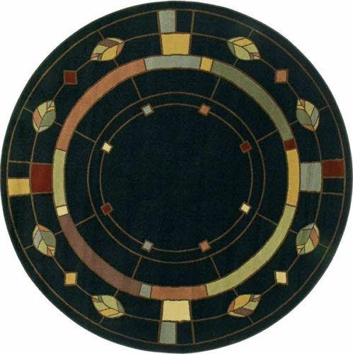 5 Round William Morris Arts Crafts Mission Style Lodge
