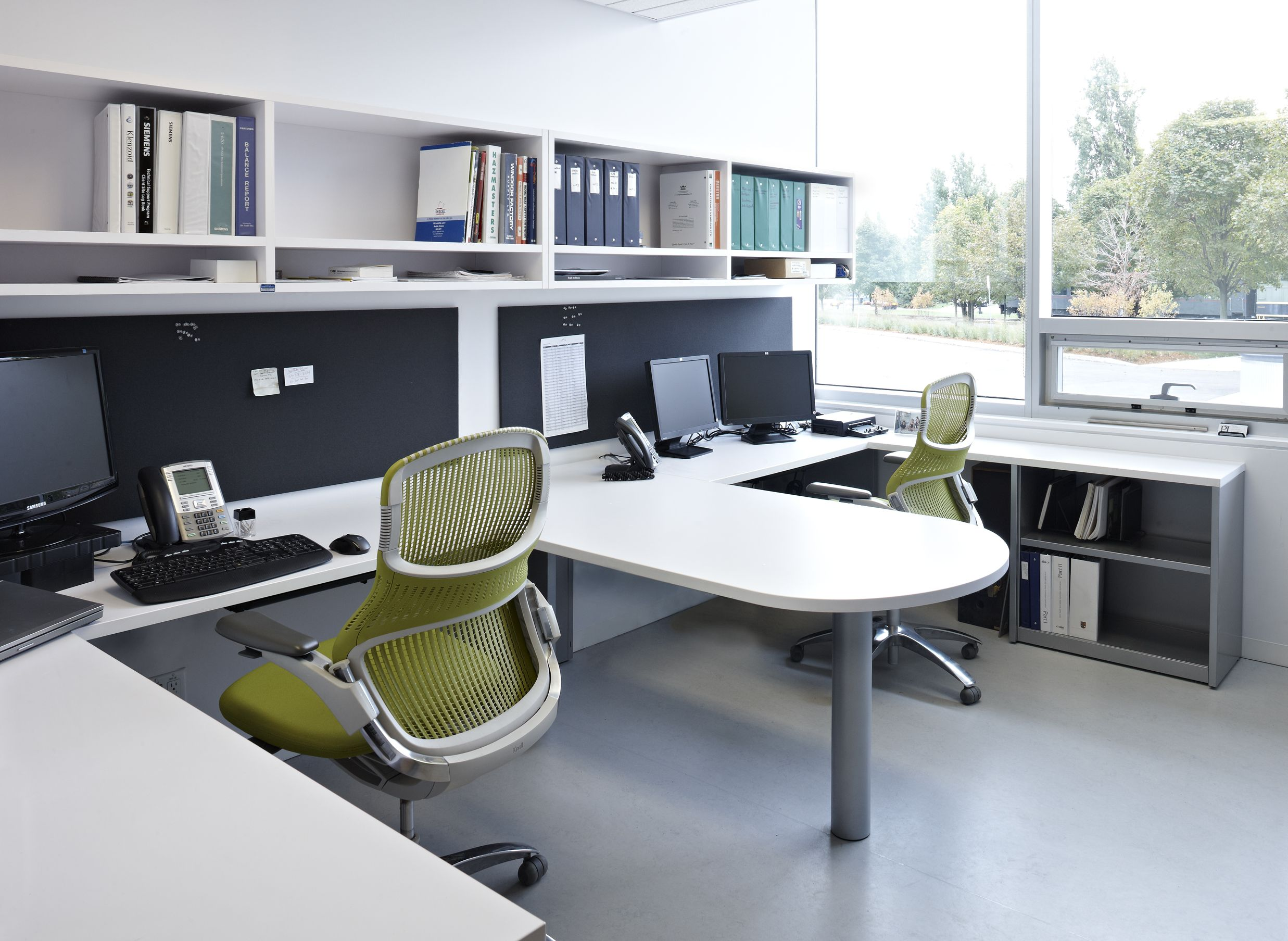dual office featuring generation by knoll ergonomic chairs stephen hawking centre at perimeter. Black Bedroom Furniture Sets. Home Design Ideas