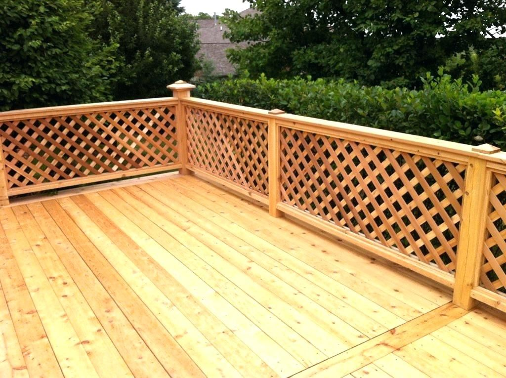 Privacy Deck Rail Lattice Deck Railing Decks Outside Living