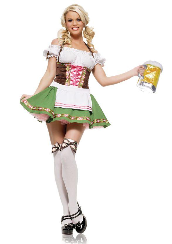 Adults Carry Me Bavarian Girl German Beer Wench Oktoberfest Fancy Dress Costume