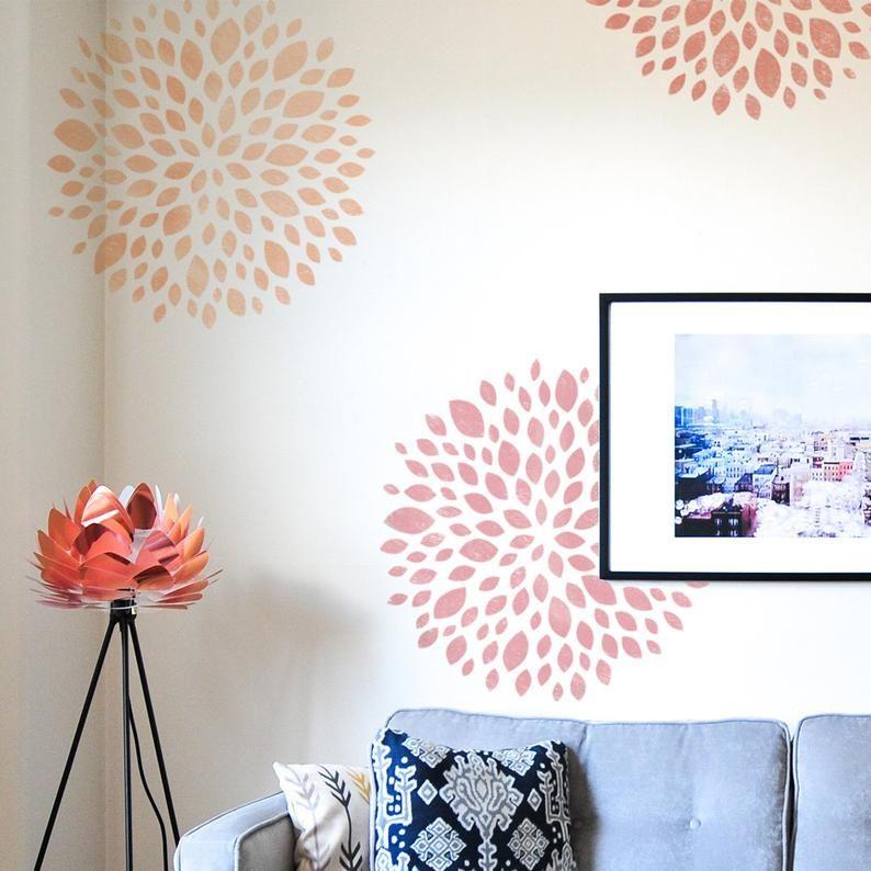 Flower Stencil - Large Stencil for Walls - Reusabl