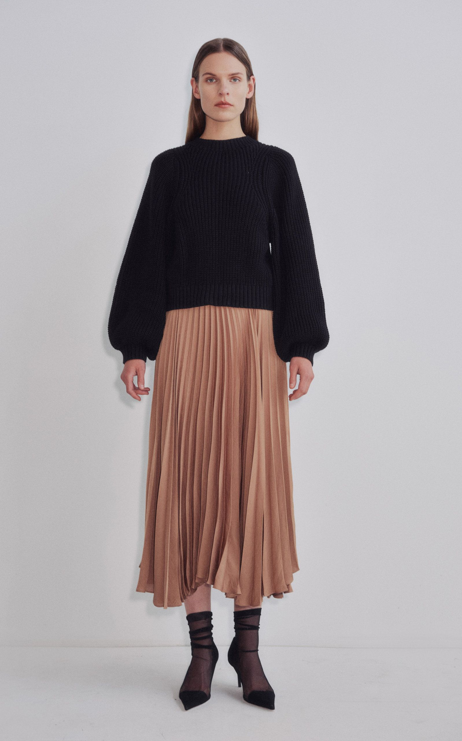 Photo of Aster Pleated Midi Skirt by Shaina Mote | Moda Operandi