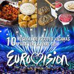 Este sábado es la gran final de Eurovisión y en el blog os he una recopilación de 10 de recetas veganas que podéis preparar para cenar de picoteo mientras disfrutáis del espectáculo con vuestros amigos  www.delantaldealces.com