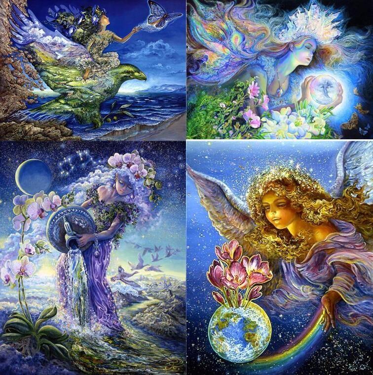 5D Diy Diamond Painting Cross Cartoon Aquarius Fairy