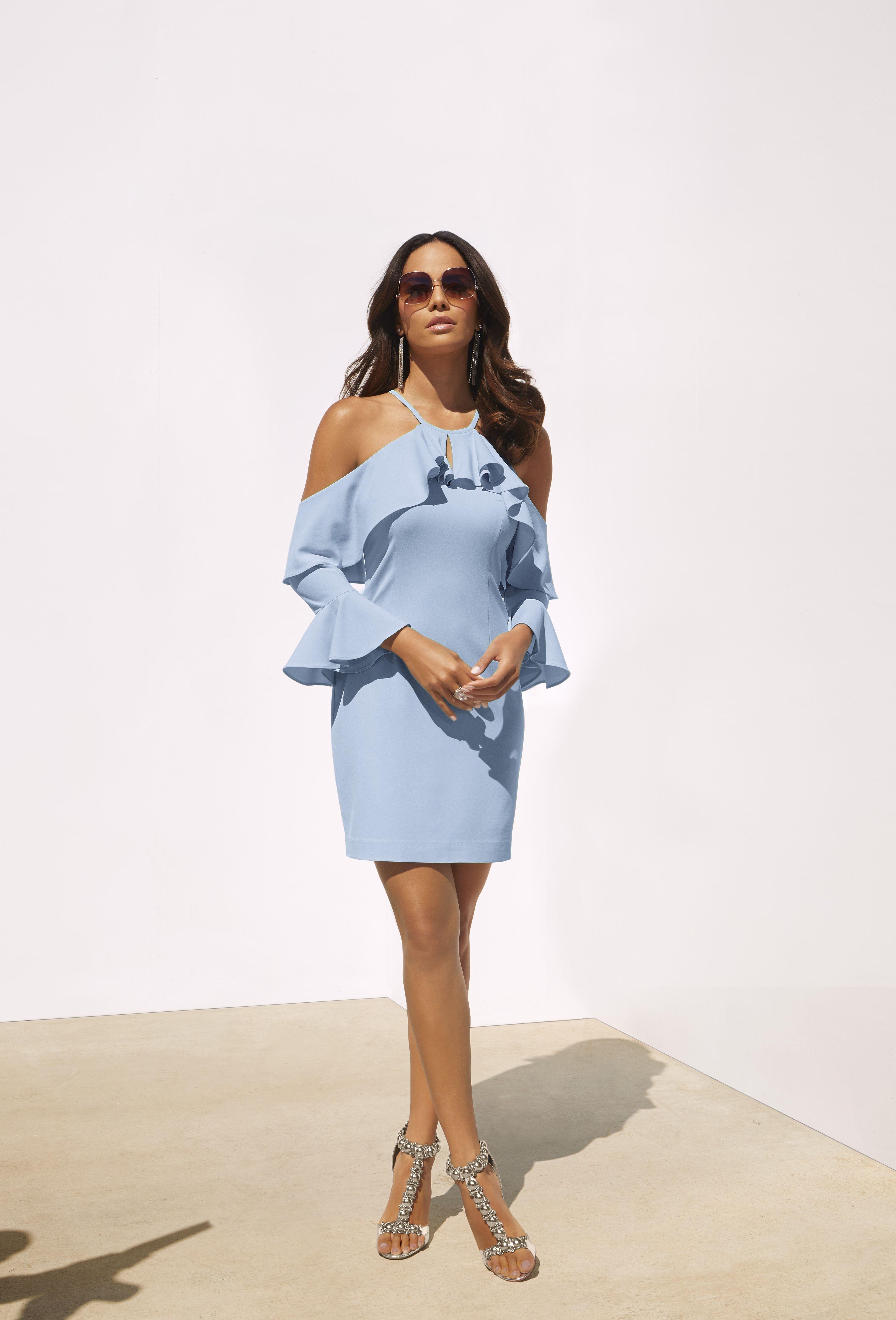 Ruffle coldshoulder dress boston proper shoulder dress and cold
