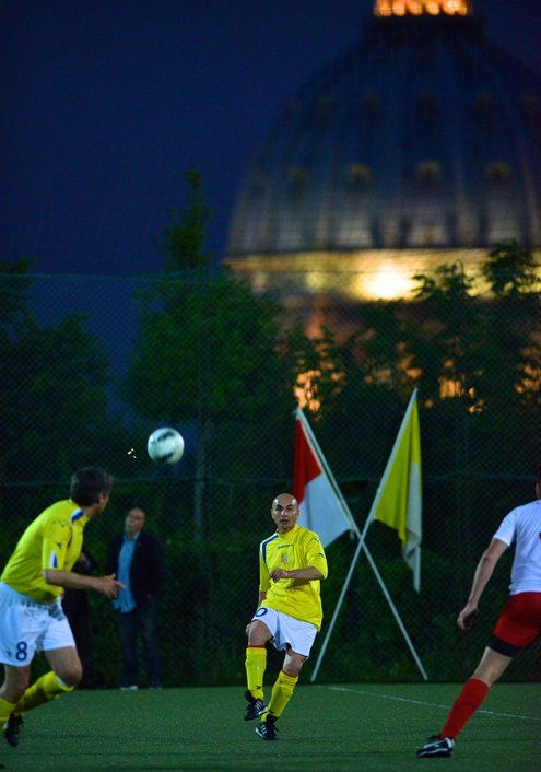 But the kickoff had been delayed: Pope Francis, an avid soccer fan who had been invited to attend, was instead addressing a crowd of 300,000 people a few hundred yards away. The players and the referees were caught in the ecstatic crowds and arrived late.