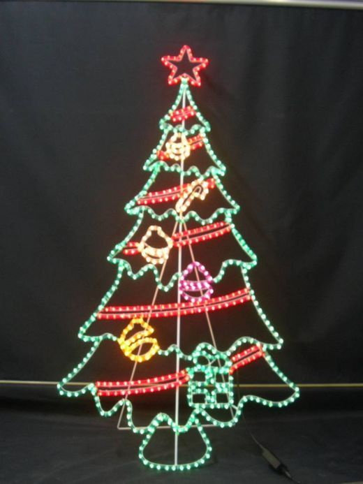 Christmas rope light rope lighting christmas tree design and rope light christmas tree design aloadofball Gallery