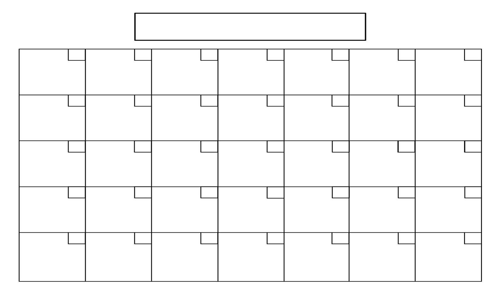 Printable Full Page Blank Calendar Template
