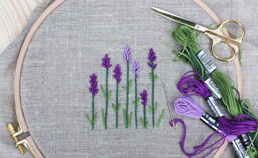 Dekorative Lavendelsackchen Selber Nahen Lavendelsackchen Blumen Stickmuster Handstickerei Ideen