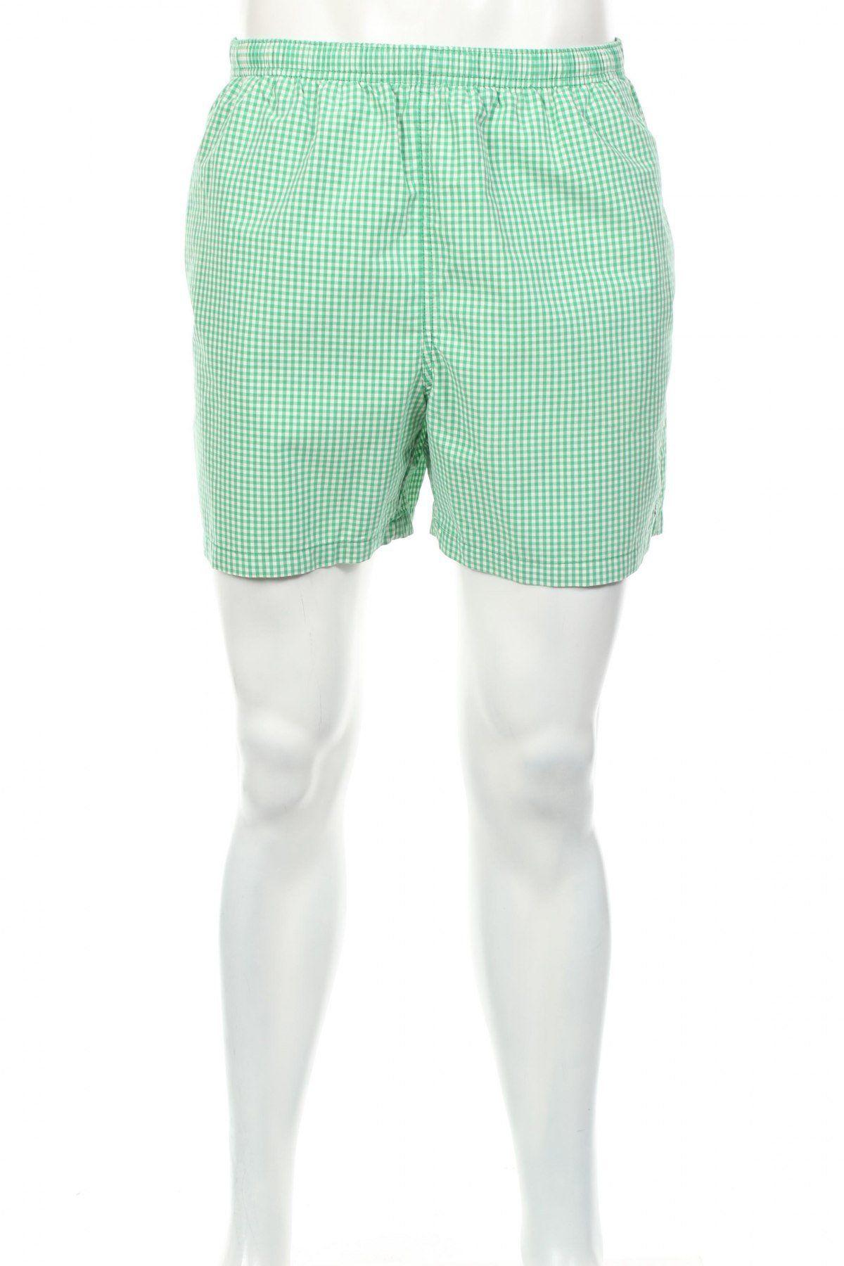 f815a36042 Vintage Polo Sport Ralph Lauren Green Checkered Trunks Swim Shorts Blue  Pony Green/White Size M