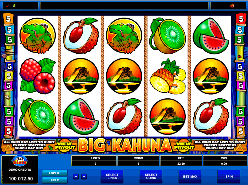 Free Big Kahuna Game, no need to download! onlinecasino