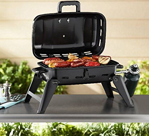 Gas Grill Portable Tabletop Bbq Propane Barbeque Camping Barbecue
