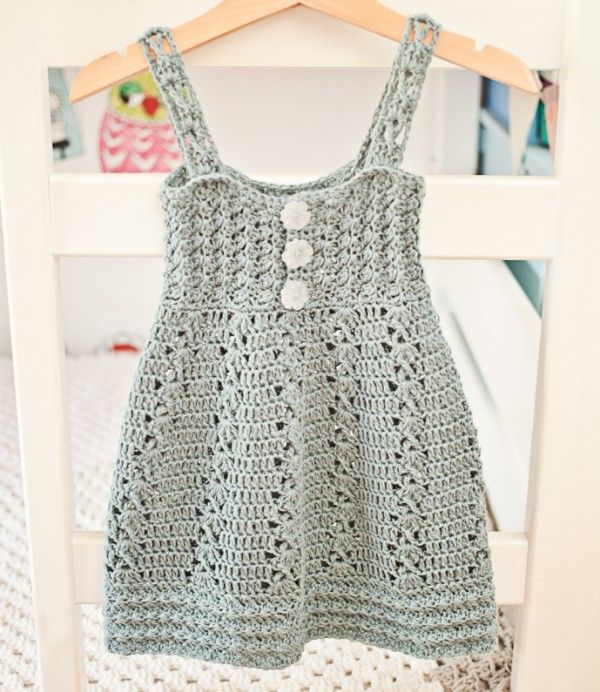patrón de vestido de ganchillo | little dresses | Pinterest ...