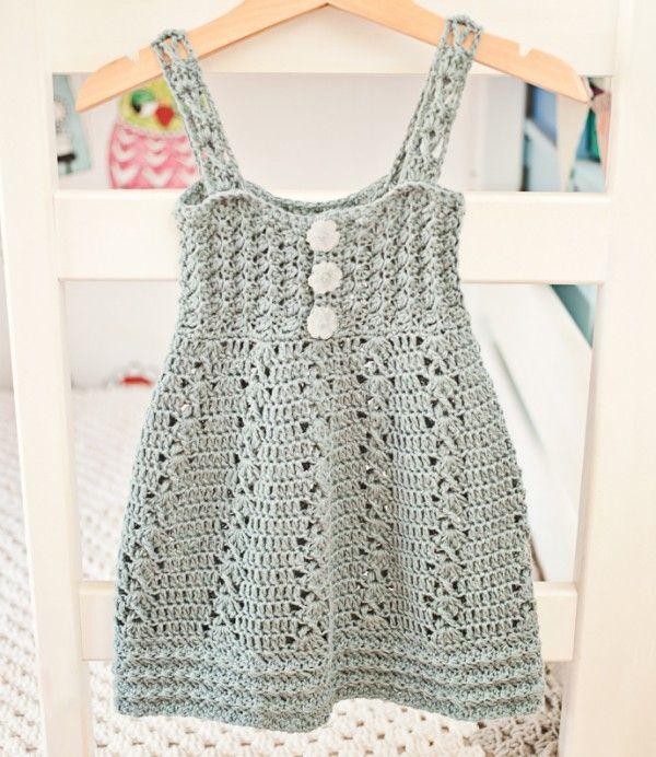 patrón de vestido de ganchillo | CROCHETED DRESSES | Pinterest ...
