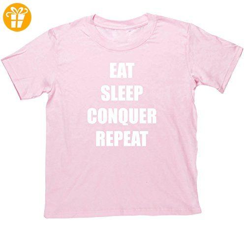 hippowarehouse Eat Sleep Conquer Repeat Kids Short Sleeve T-Shirt Gr. 12-13