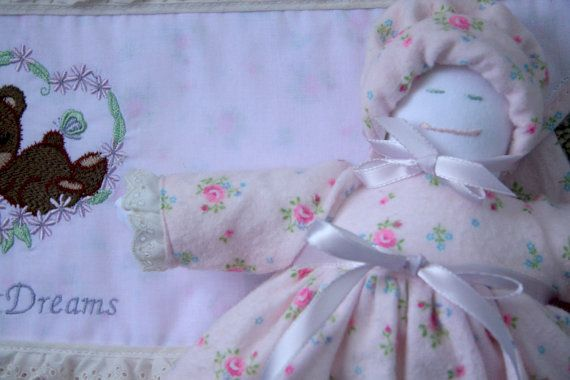 Receiving Blanket  and Doll Set ON SALE by monbebes on Etsy, $15.00
