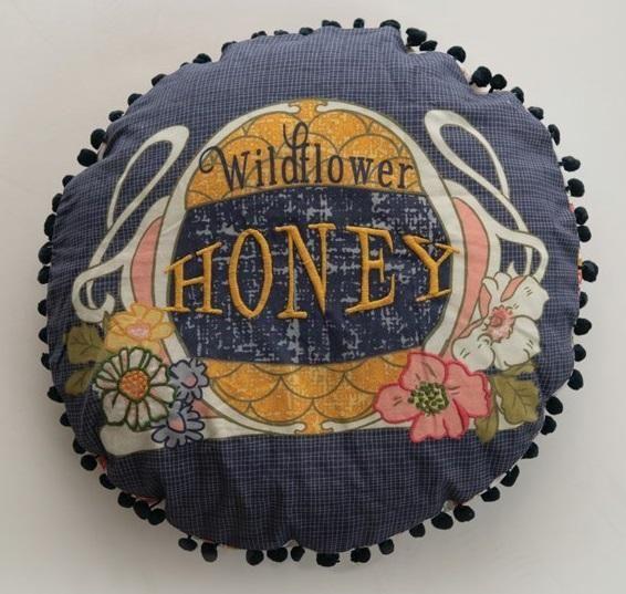 16 Round Wildflower Honey Cotton Slub Pillow - Default Title