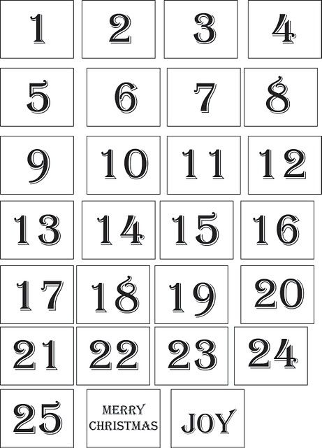 Advent Numbers