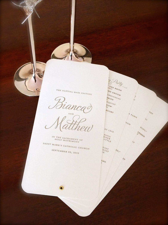 Printable Wedding Program Fan -- Calligraphy Script -- pompdesigns ...