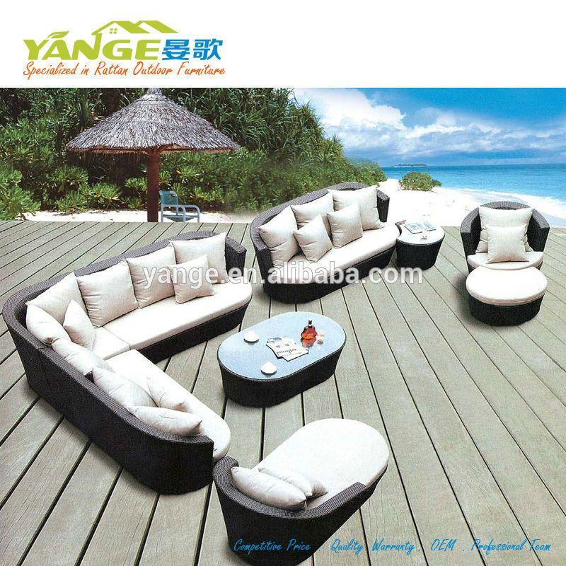 Ratan conjunto de sofás muebles de jardín muebles de exterior ...