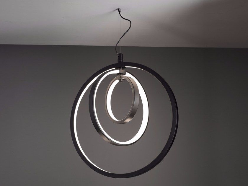 Diminishing loops led pendant lamp modern and contemporary