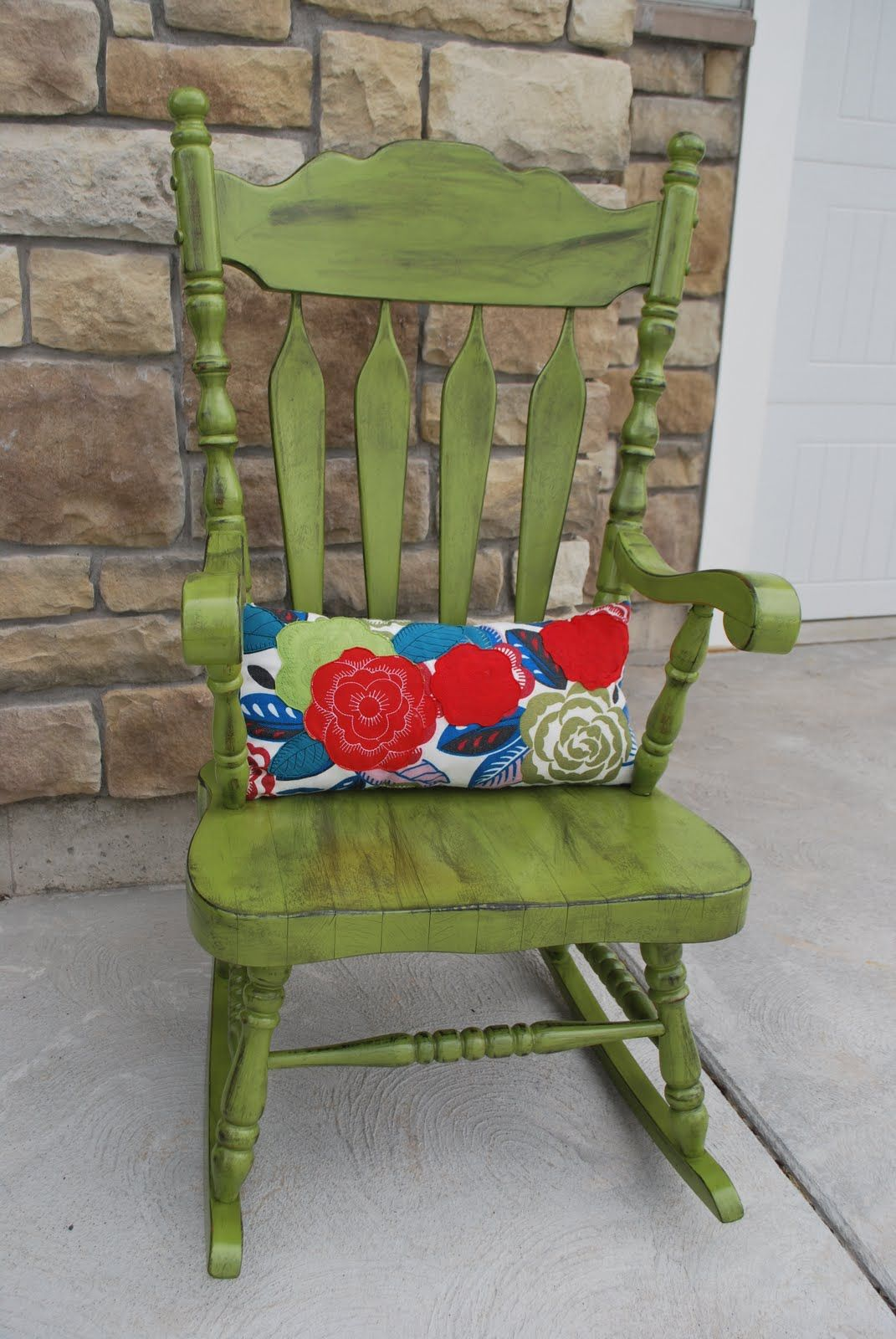 Green Porch Rocking Chair