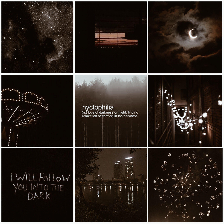 Aesthetic Mood Board Night Night Dark Aesthetic Moodboard