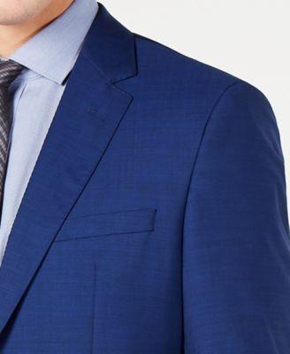 2f4083030 Hugo Boss Men's Modern-Fit High Blue Textured Suit Jacket - Blue 42L ...
