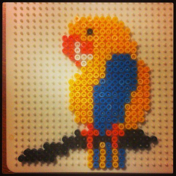 Parrot perler beads by pauy_k:
