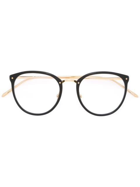 a71e6bb16f Linda Farrow Gallery big round glasses frame