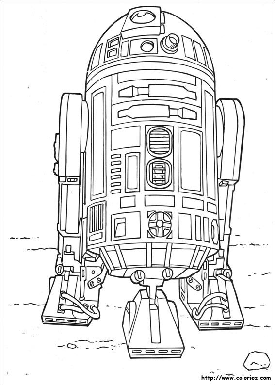R2 D2 Le Robot Un Astro Droide Star Wars Coloring Book Star