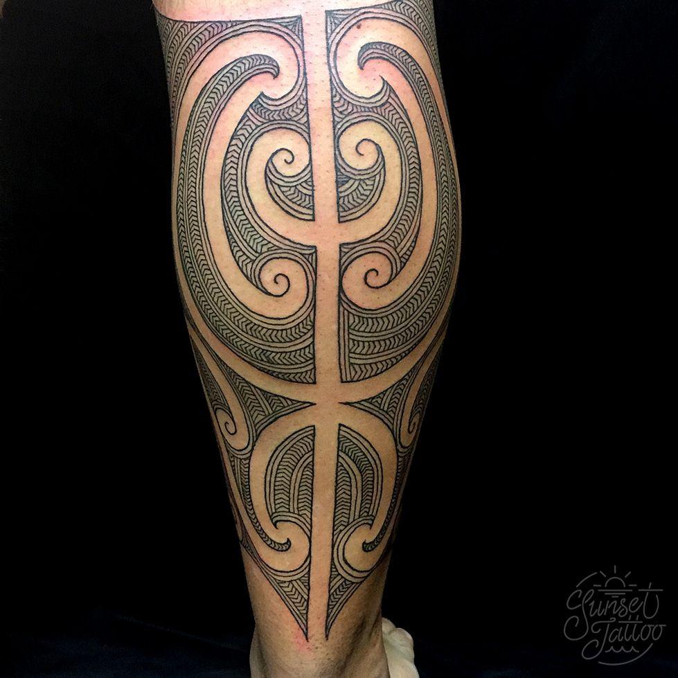 Tristan Ta Moko Maori Leg Tattoo