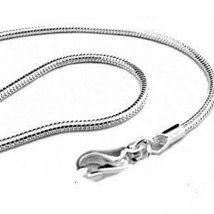 3.5MM Solid 925 Sterling Silver Italian ROUND SNAKE Chain Necklace Made In Italy